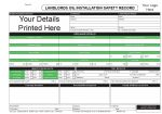 Personalised Landlords Oil Installation Safety Record
